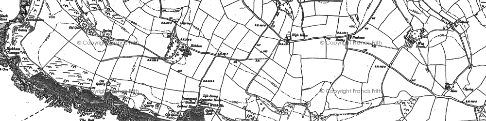 Old map of West Prawle in 1905
