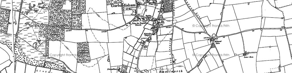 Old map of Garboldisham in 1883