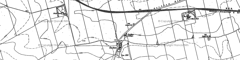 Old map of Westwood Ho in 1889