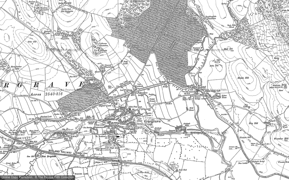 Old Map of Gargrave, 1893 - 1907 in 1893