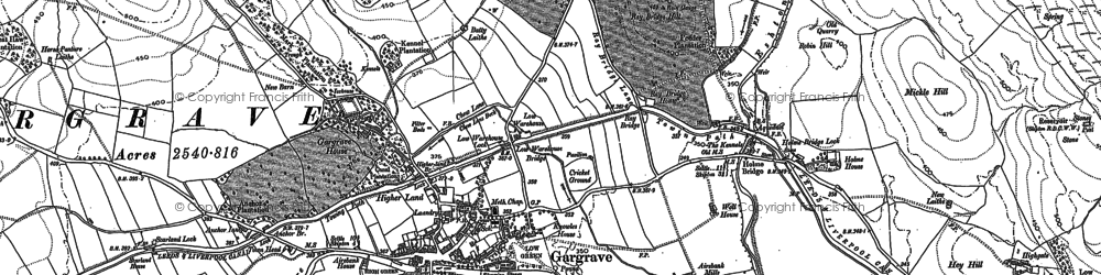 Old map of Gargrave in 1893