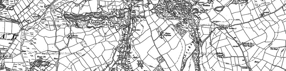Old map of Garker in 1881