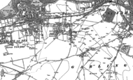 Old Map of Garlinge, 1905