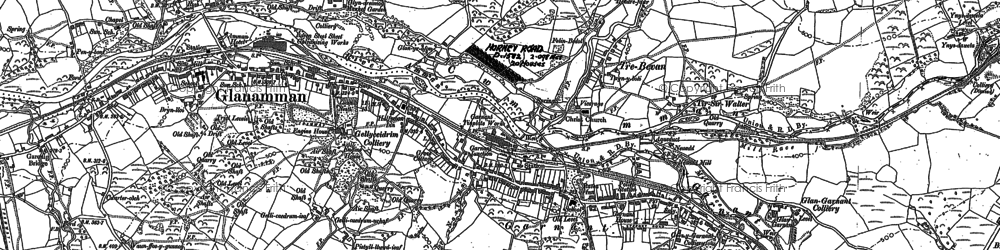 Old map of Banc Cwmhelen in 1905