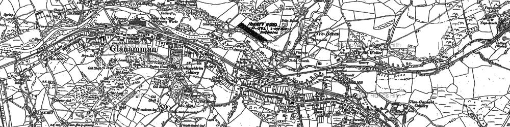 Old map of Garnant in 1905