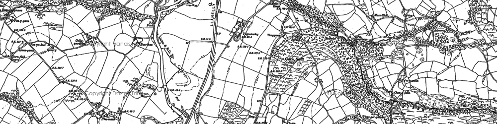 Old map of Garn-swllt in 1905