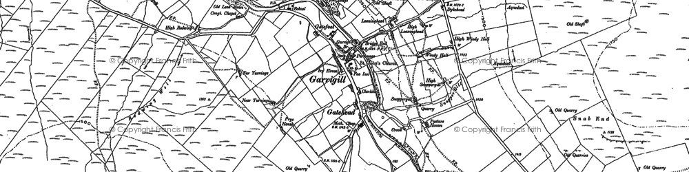 Old map of Ash Gill in 1898