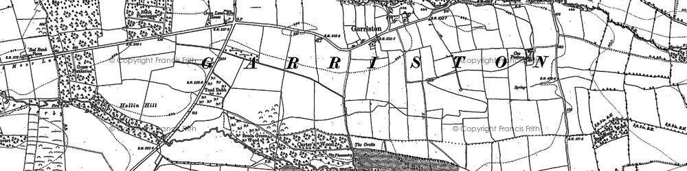 Old map of Wham, The in 1891