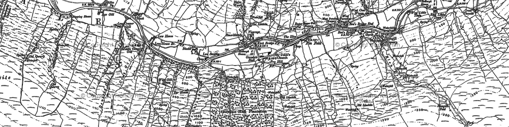Old map of Wry Gill in 1907
