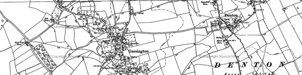 Old map of Garsington in 1897