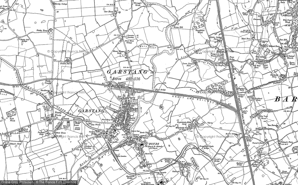 Old Map of Historic Map covering Lingart in 1910
