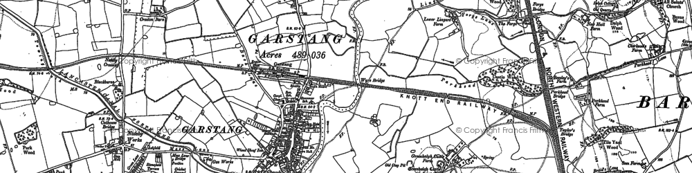 Old map of Lingart in 1910