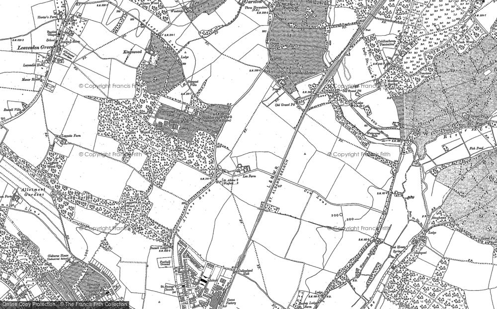 Old Map of Garston, 1896 in 1896