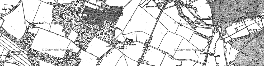 Old map of Garston in 1896