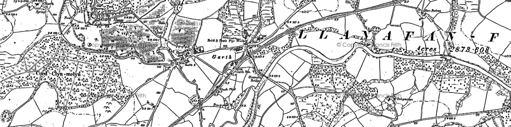 Old map of Banc y Cwm in 1887