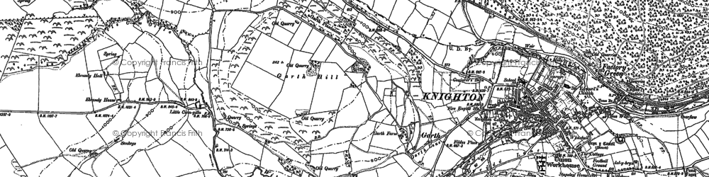 Old map of Garth in 1887