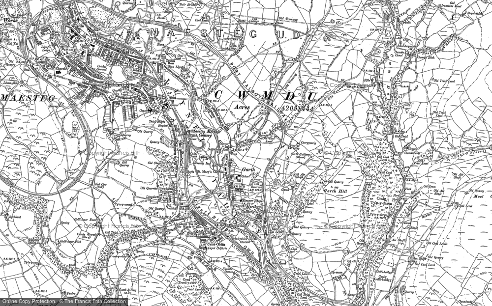 Old Map of Garth, 1897 in 1897