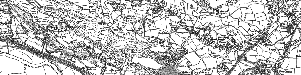 Old map of Garth in 1898
