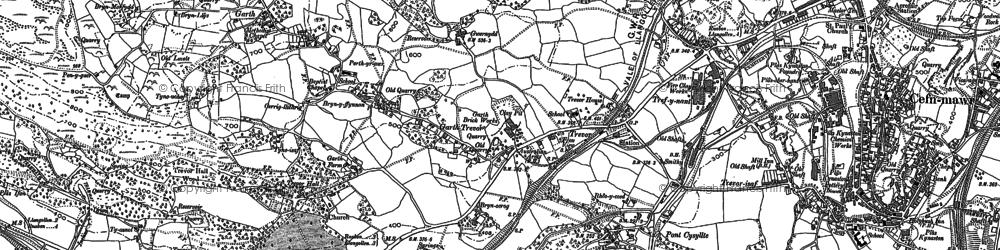 Old map of Garth Trevor in 1898