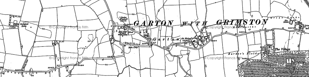 Old map of Bail Wood in 1908