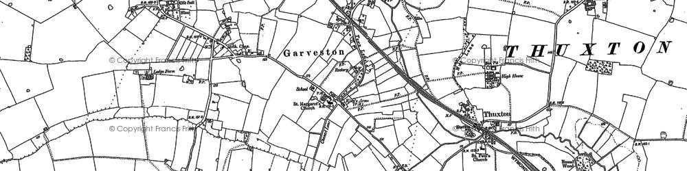 Old map of Garvestone in 1882