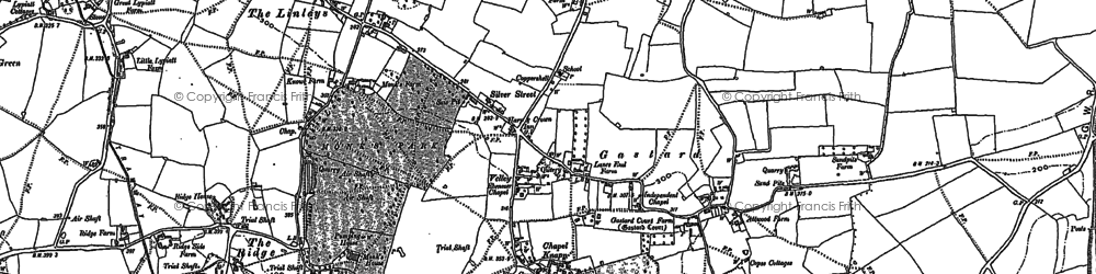 Old map of Gastard in 1899