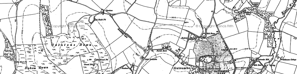 Old map of Whitecroft in 1896