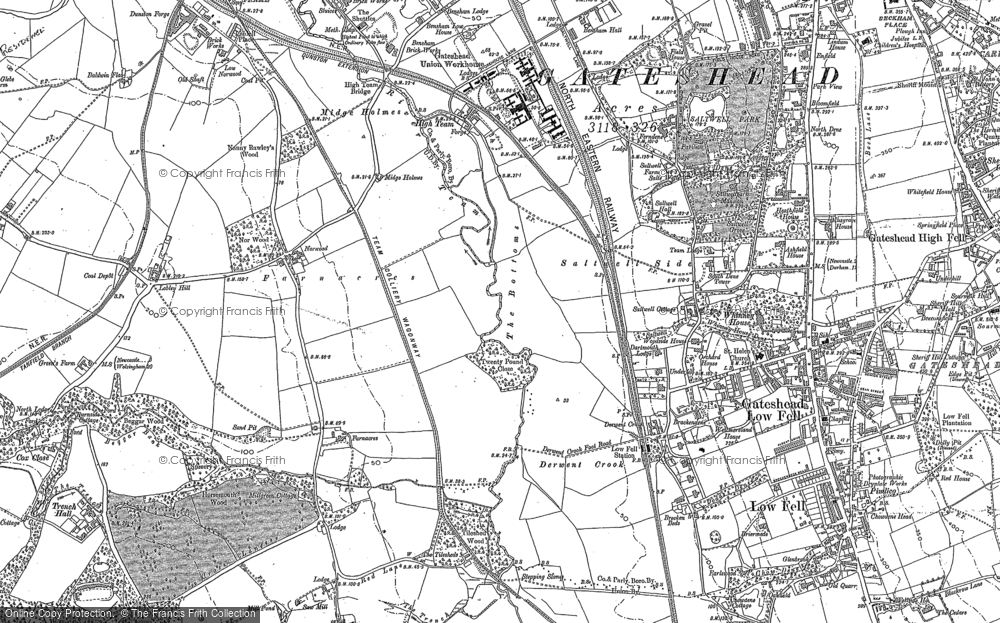 Map of Gateshead, 1895
