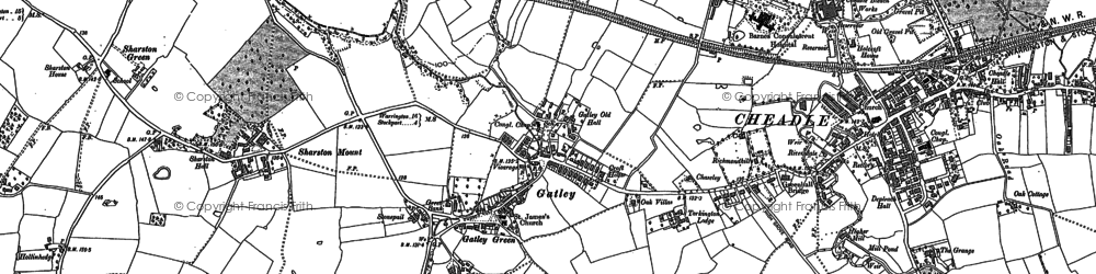 Old map of Gatley in 1897