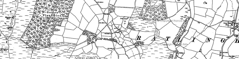 Old map of Westcott Hill in 1882