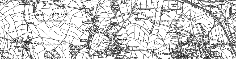 Old map of Wilthorpe in 1851