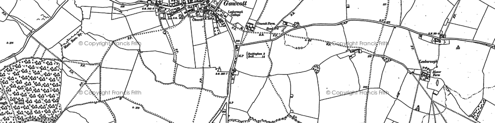 Old map of Gawcott in 1898
