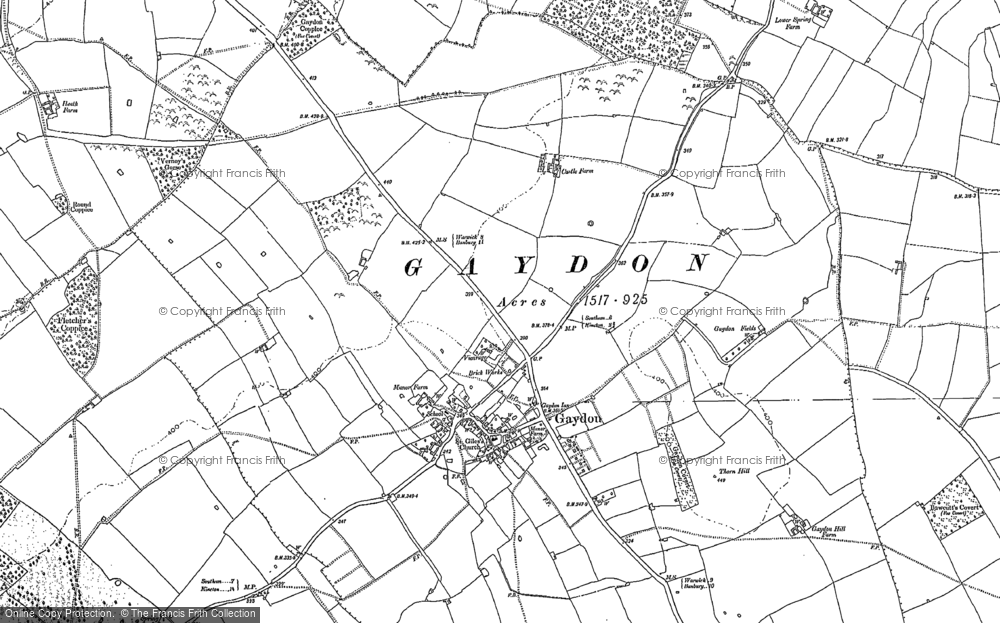 Old Map of Gaydon, 1885 - 1904 in 1885