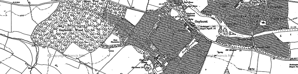Old map of Tathall End in 1899