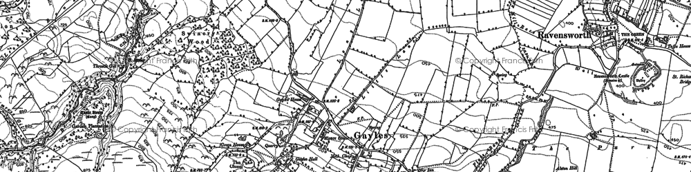 Old map of Gayles in 1892