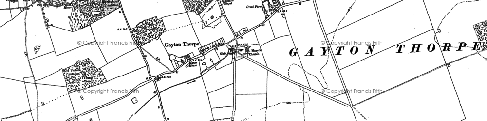 Old map of Lanky Hill in 1884