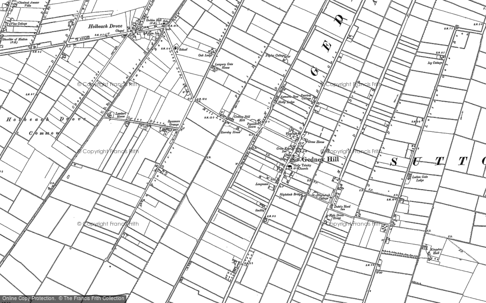 Map of Gedney Hill, 1903