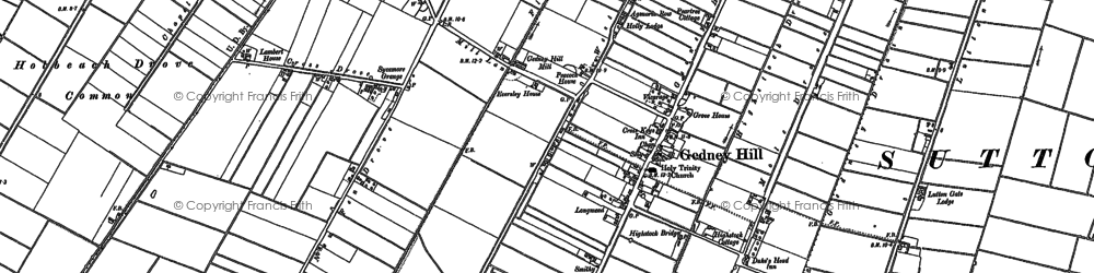 Old map of Gedney Hill in 1903
