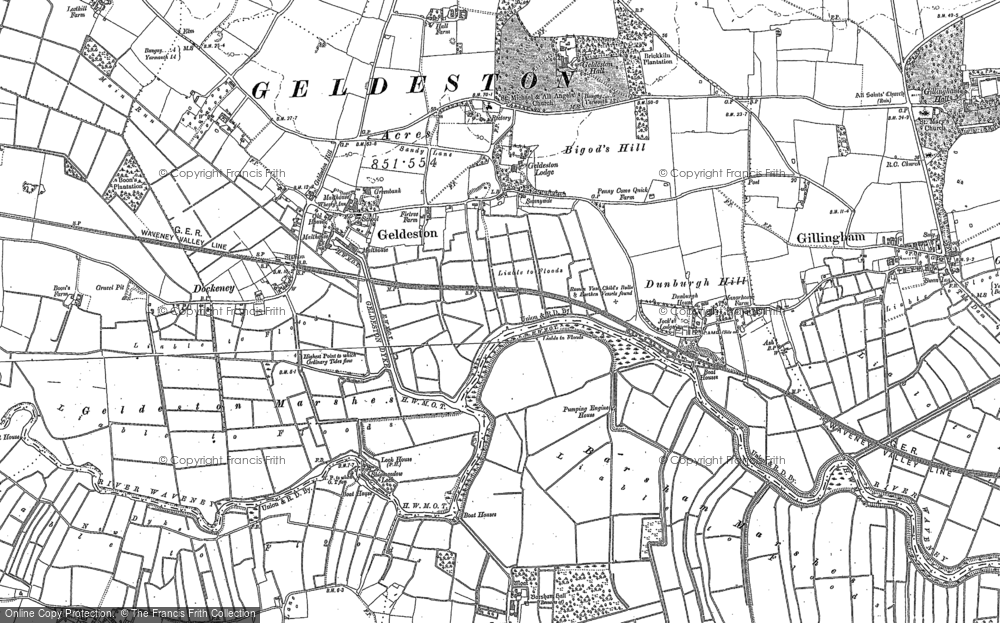 Old Map of Historic Map covering Leet Hill in 1903