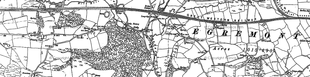 Old map of Whitehook in 1887