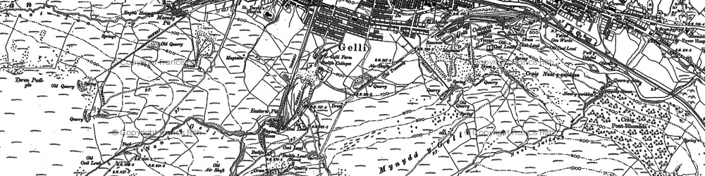 Old map of Gelli in 1898