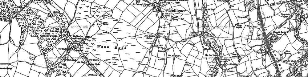 Old map of Tir-y-rhen in 1898