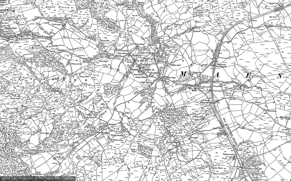 Old Map of Gellilydan, 1887 - 1899 in 1887