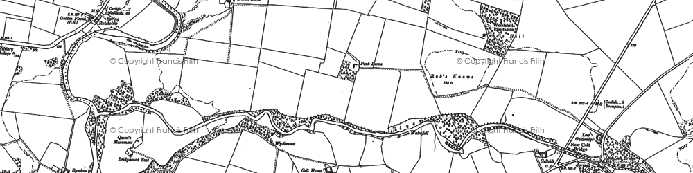 Old map of Wood's Hill in 1899