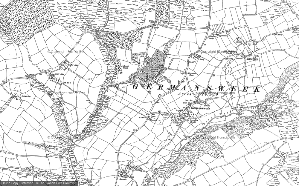 Old Map of Historic Map covering Toft in 1883