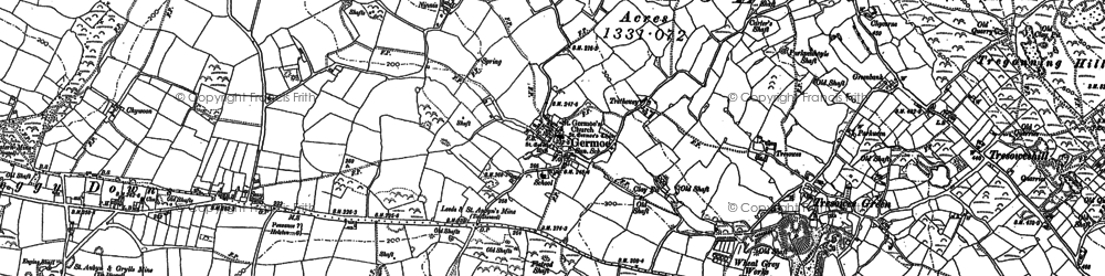 Old map of Millpool in 1907