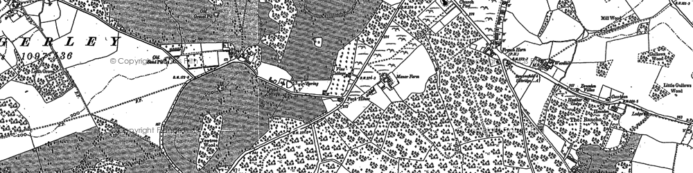 Old map of Tatling End in 1897