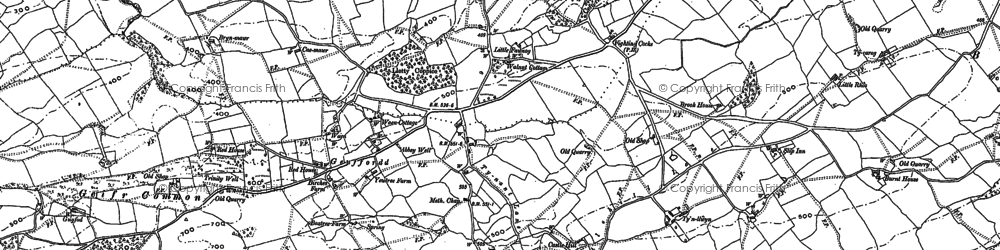 Old map of Y Gaer in 1884