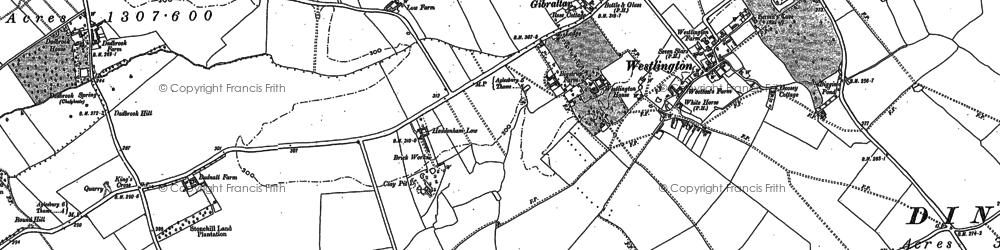 Old map of Westlington Ho in 1898