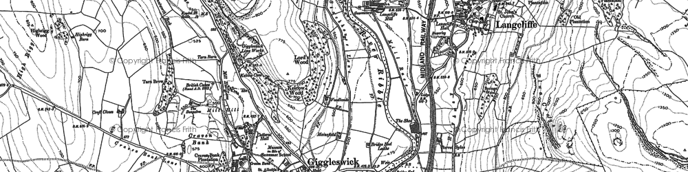 Old map of Giggleswick in 1907
